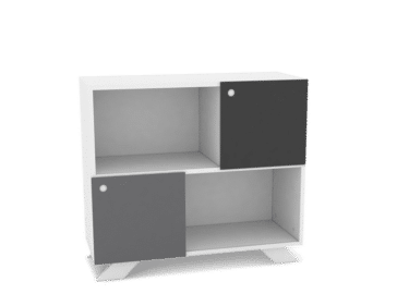 Sideboard in white 90cm with sliding doors. K2 Depot 900