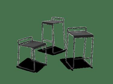 Black wire steel bar stool
