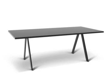 Large meeting and conference table in black