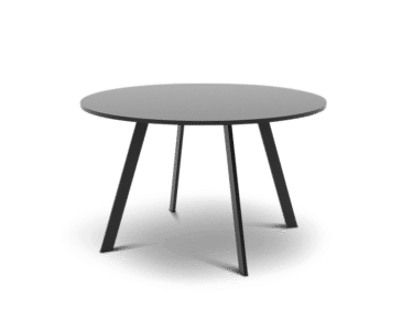 Round meeting and conference table in black
