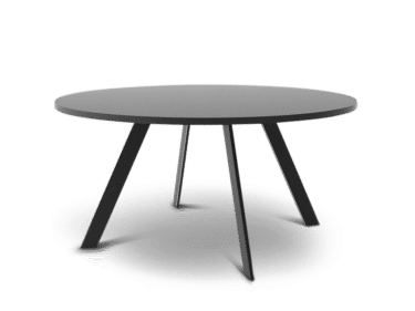 Large round table in black