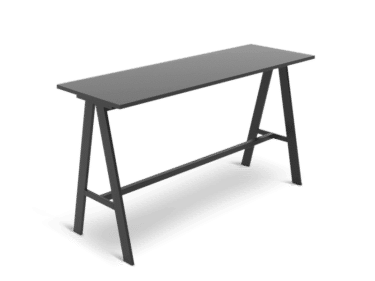 High table for bar stools in black